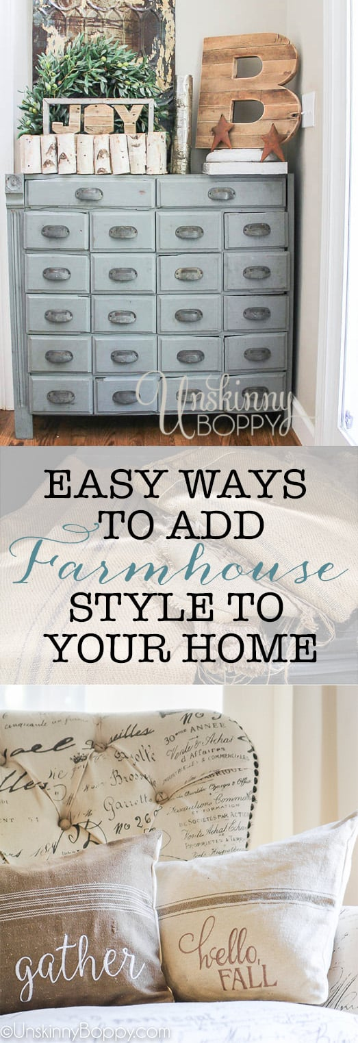 Five Easy Ways to add farmhouse style to your home