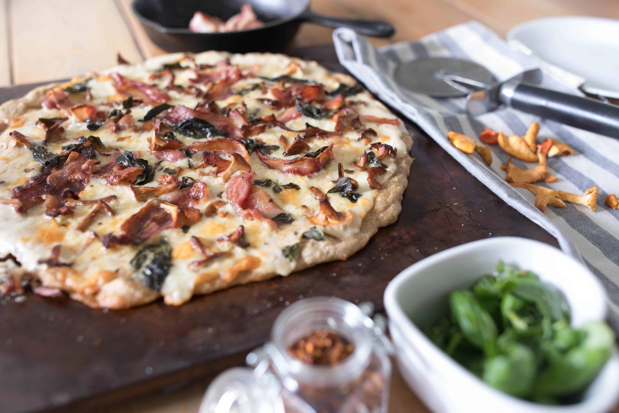chanterelle pizza sourdough
