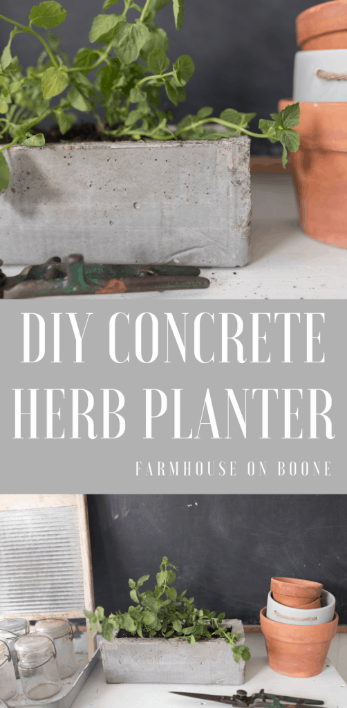 How to make a DIY concrete planter with cardboard forms
