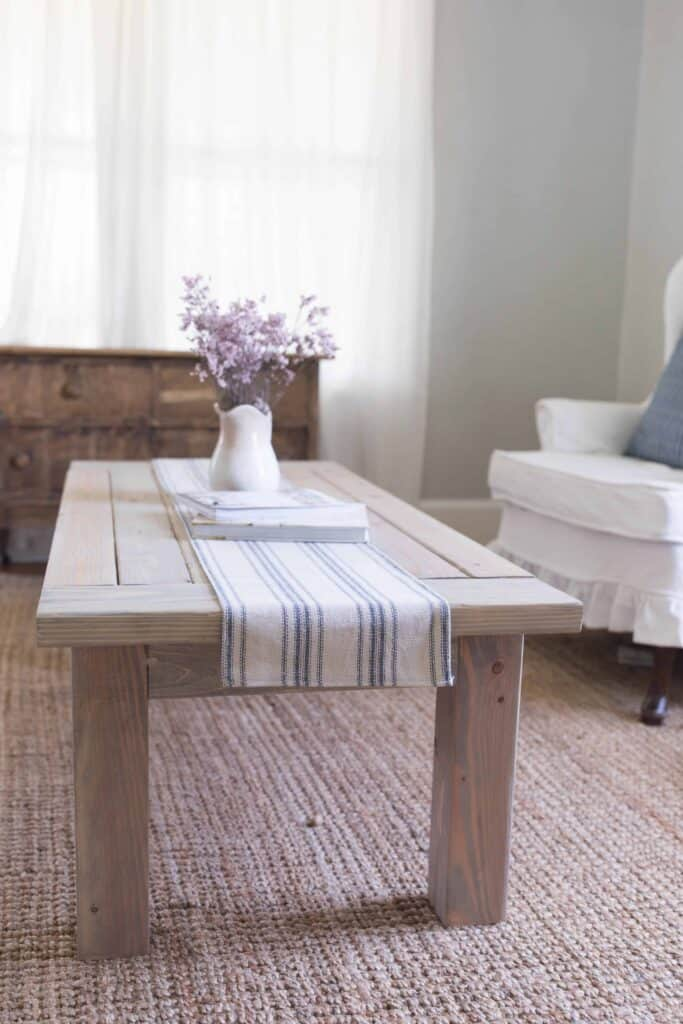 farmhouse coffee table diy plans build