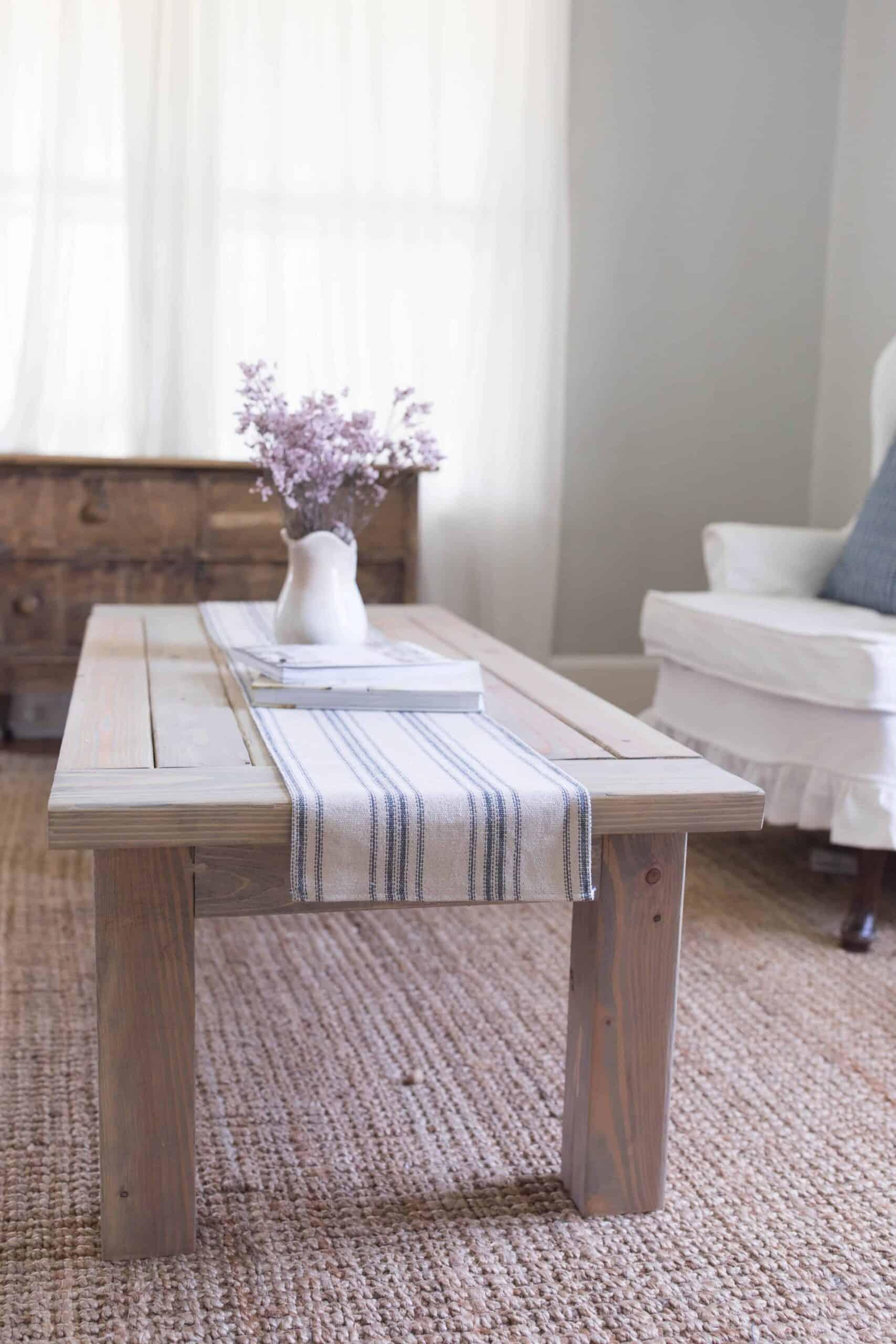 farmhouse coffee table diy plans build