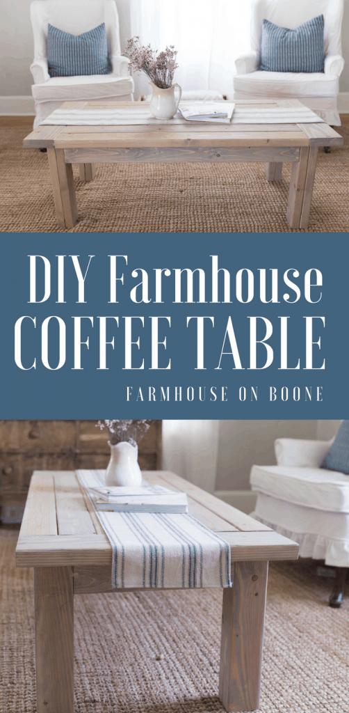 Farmhouse Coffee Table Diy Plans Farmhouse On Boone