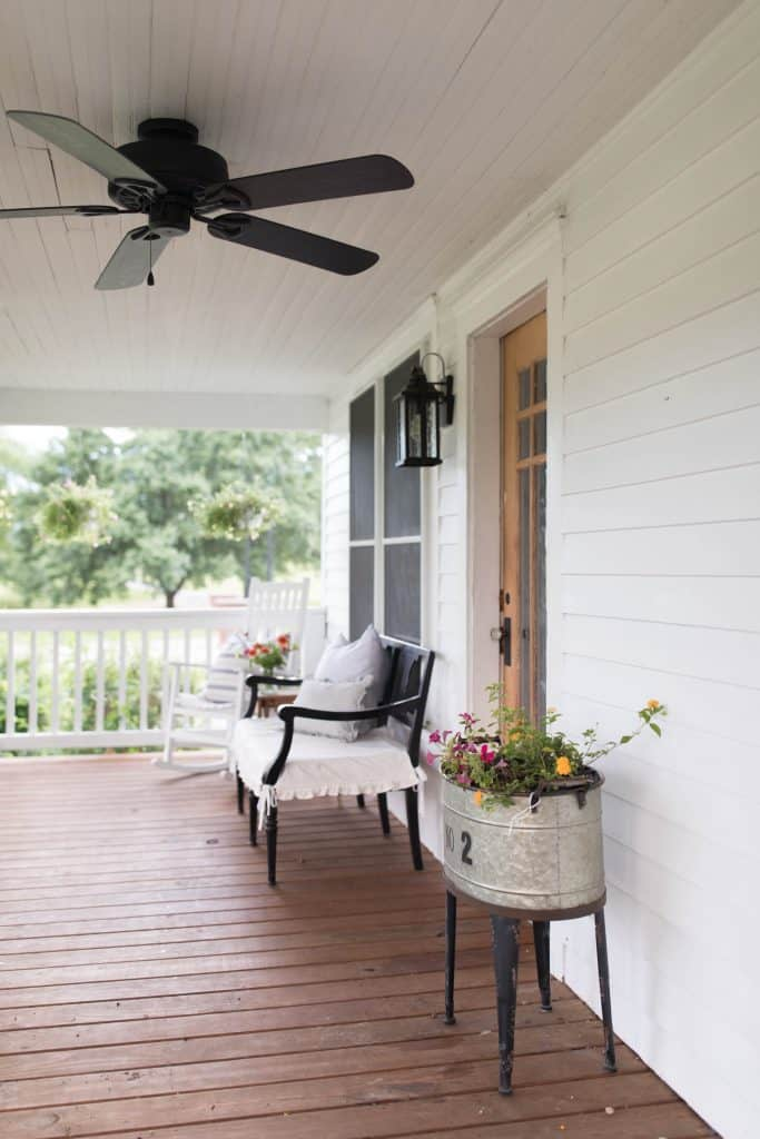 front porch farmhouse style summer home tour
