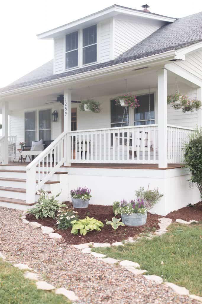 farmhouse front porch summer home tour