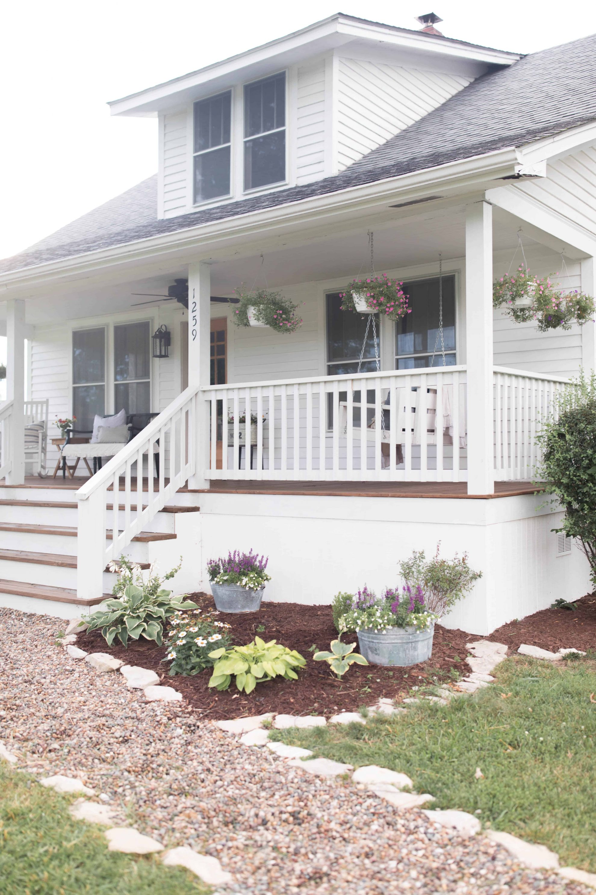 farmhouse front porch summer home tour
