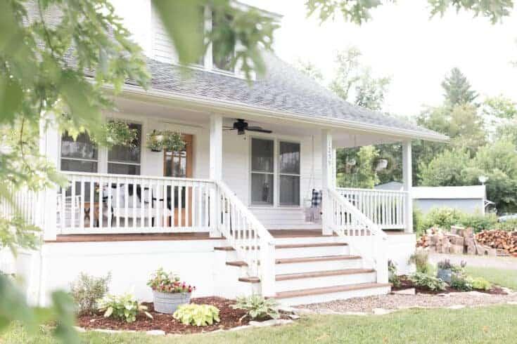 Summer Farmhouse Front Porch