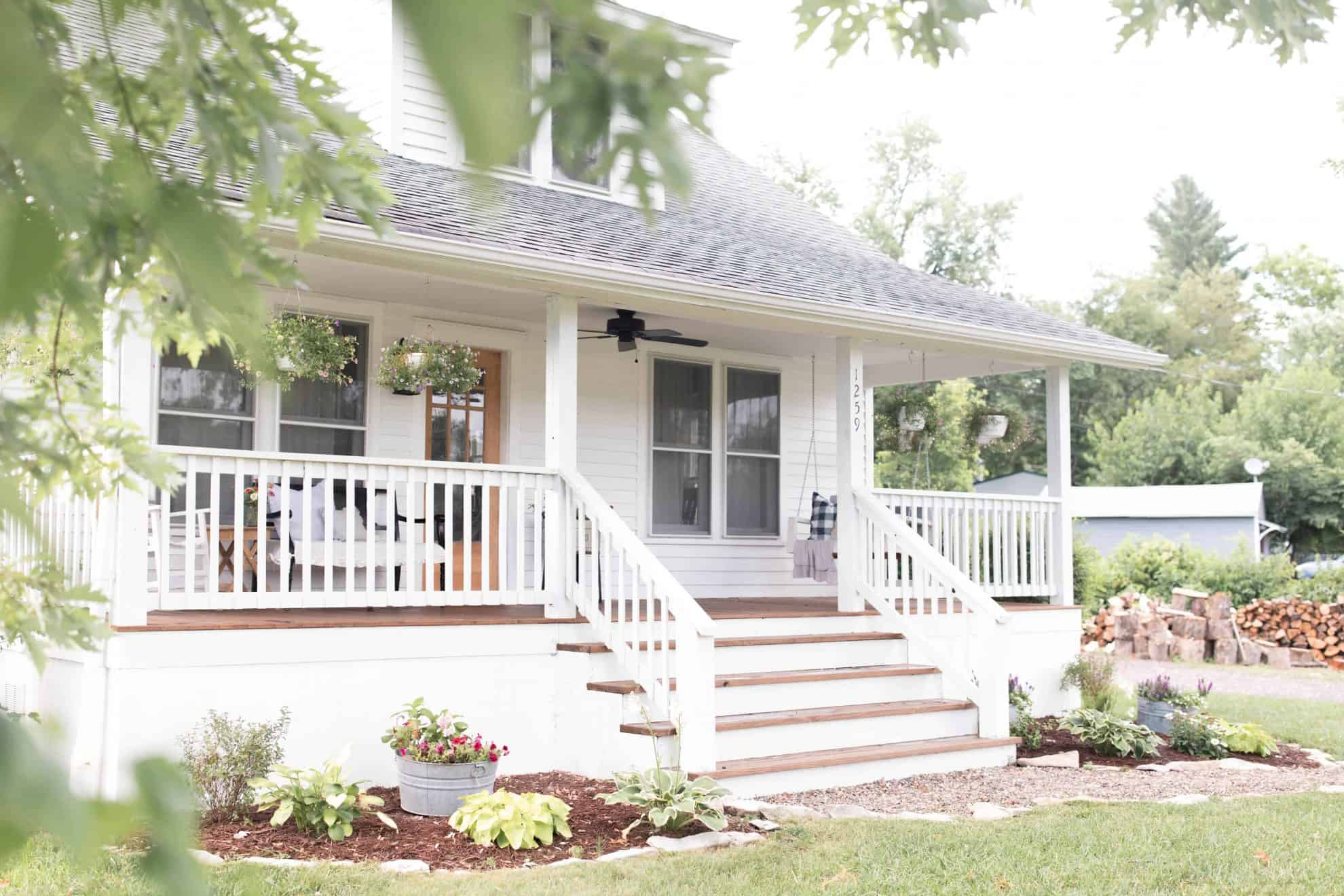 Summer Farmhouse Front Porch