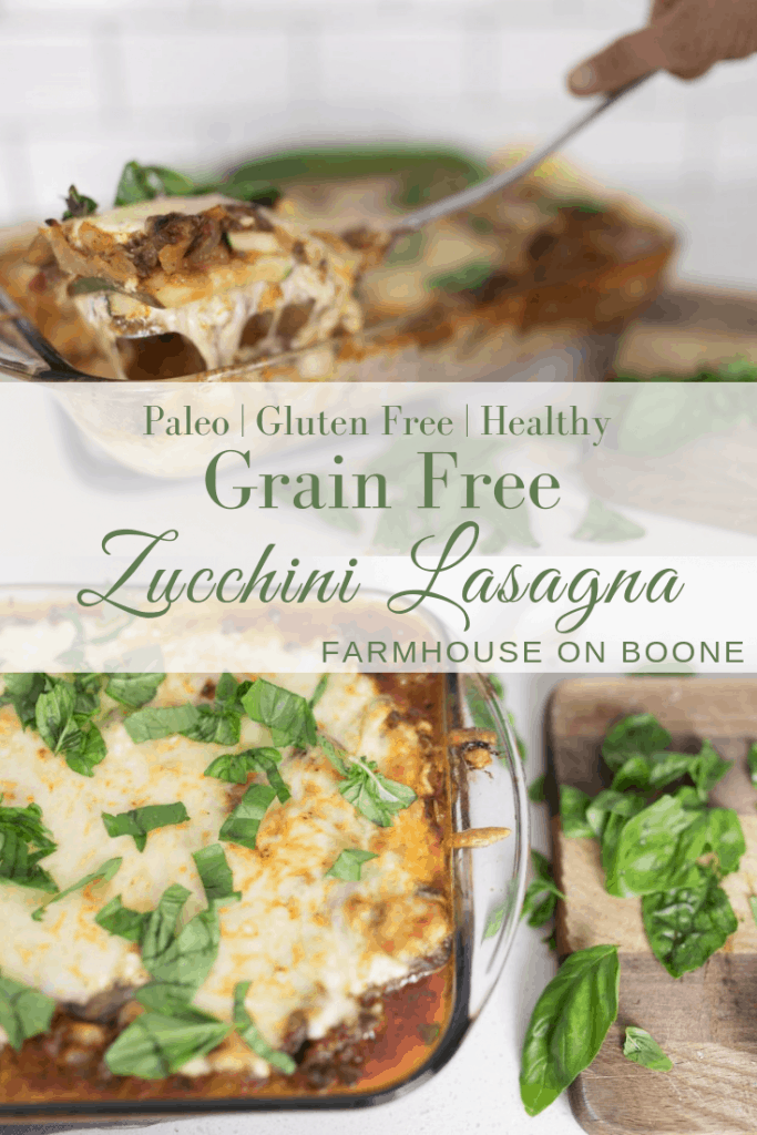 grain free zucchini lasagna