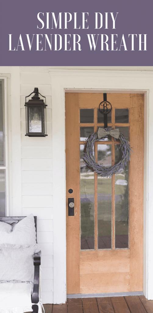 How to make a DIY lavender wreath simple farmhouse decor