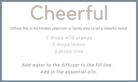 Cheerful essential oil diffuser blend