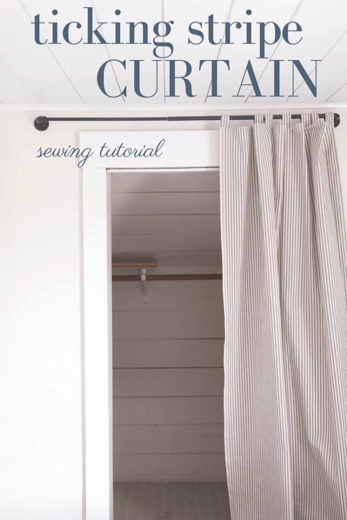 Diy Ticking Stripe Curtain Sewing Tutorial Farmhouse On Boone