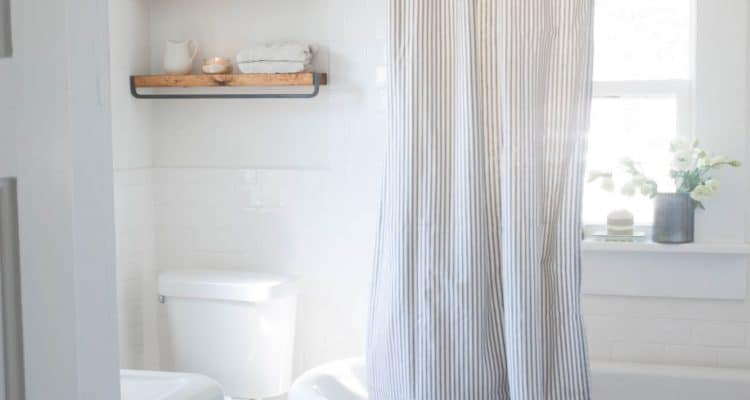 DIY Ticking Stripe Curtain Sewing Tutorial
