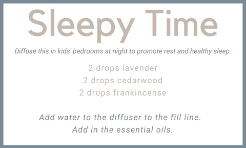 sleepy time diffuser blend for kids