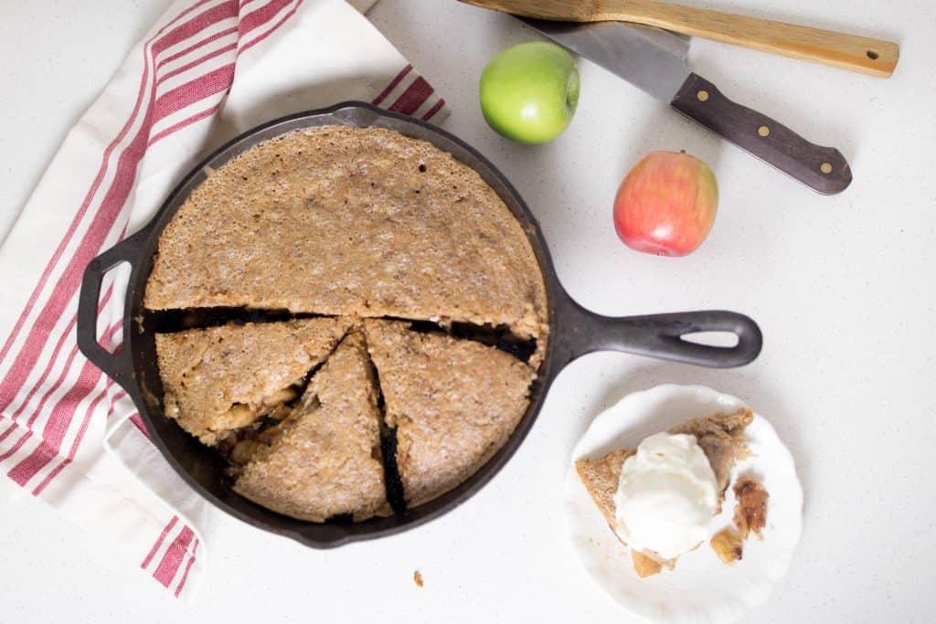 healthy apple pie recipe made with sourdough and einkorn maple syrup apple pie