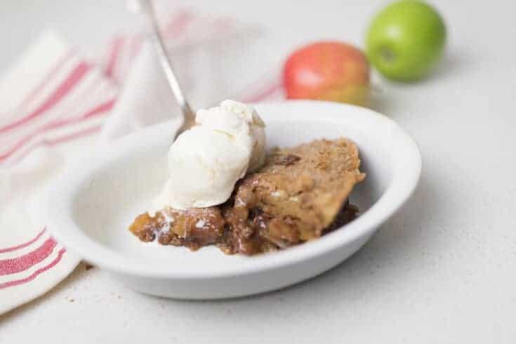Cinnamon Maple Sourdough Apple Pie