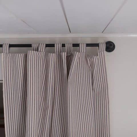 DIY Ticking Stripe Curtain Sewing Tutorial