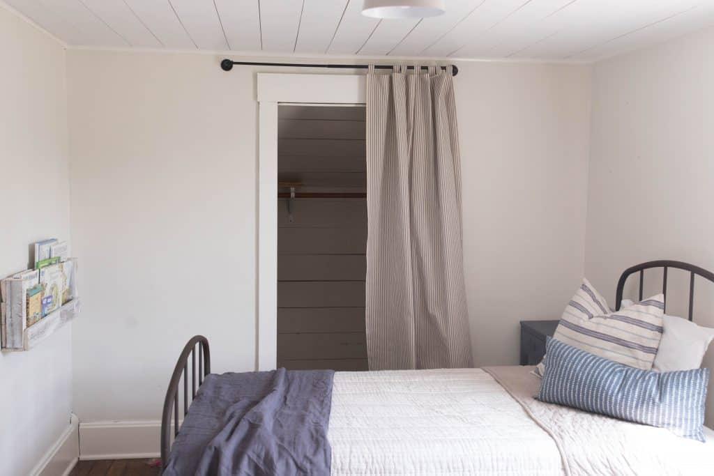 farmhouse planked ceilings boys bedroom farmhouse style