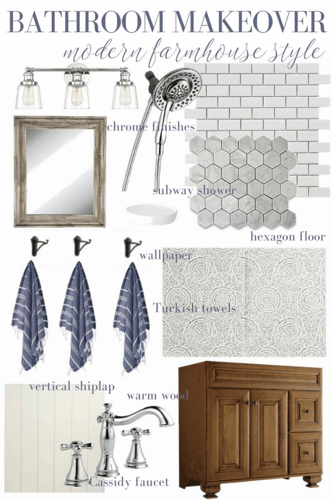 modern farmhouse style bathroom makeover plans