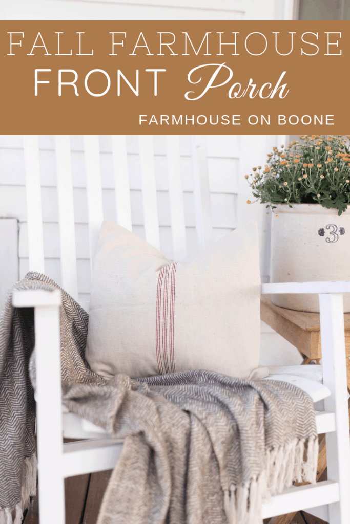 fall farmhouse front porch tour