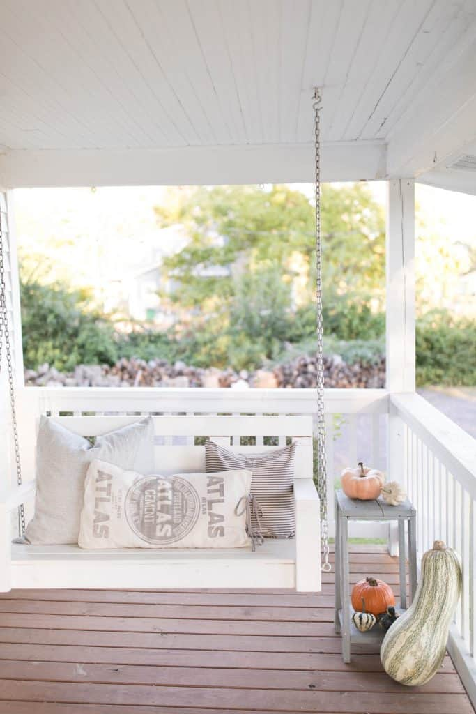 fall decorating for the front porch farmhouse style