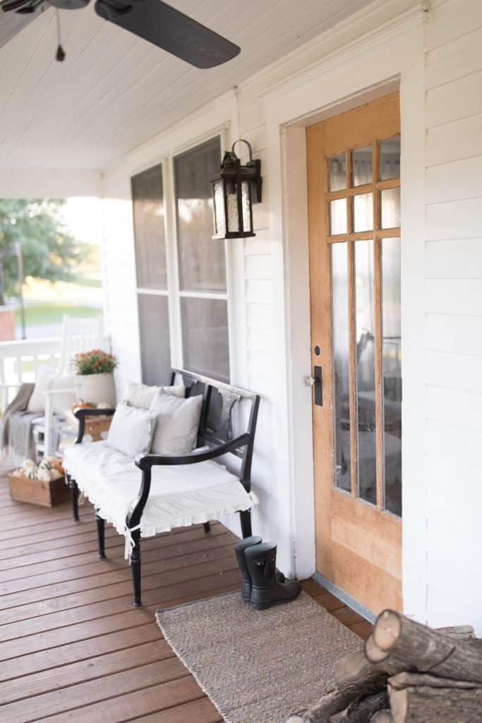 farmhouse porch fall decorating simple fall decor ideas