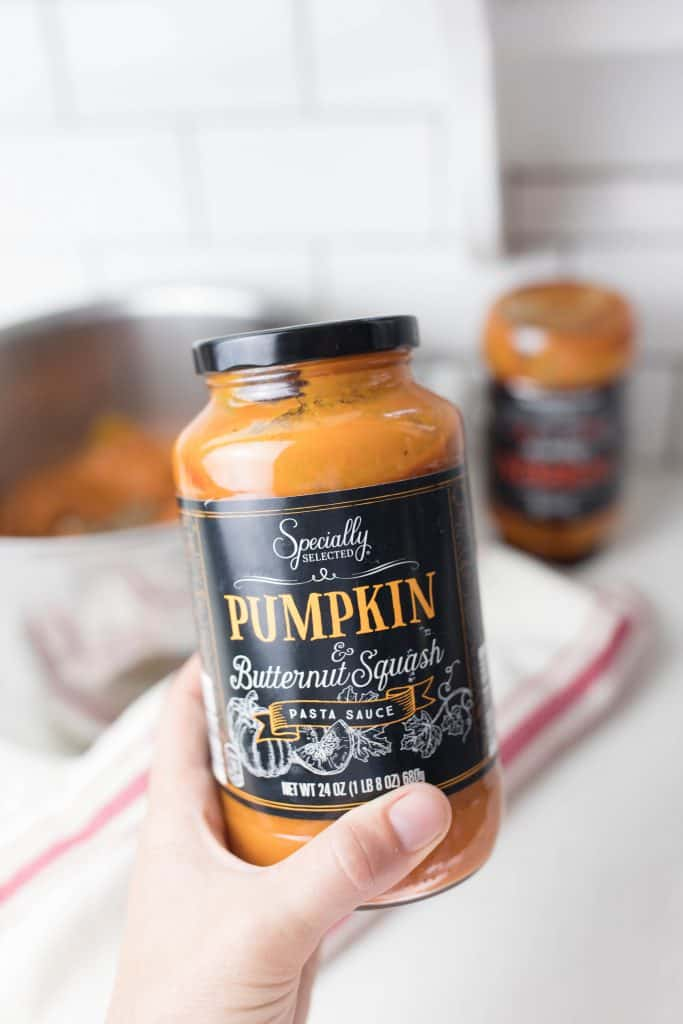 specially selected pumpkin and butternut squash sauce