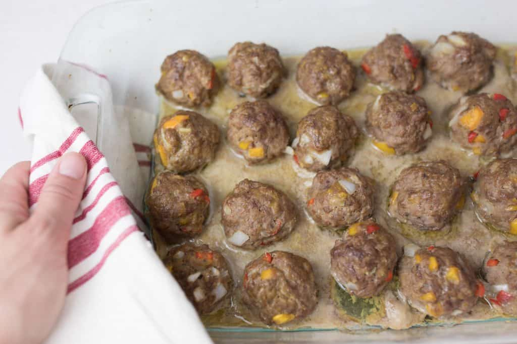 how to make homemade meatballs with coconut flour