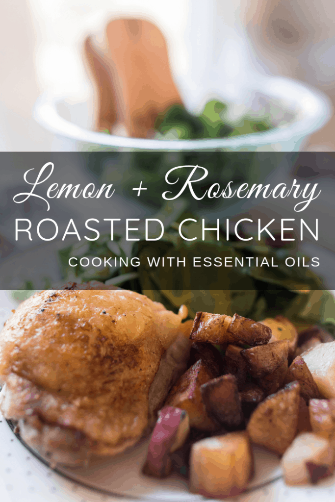 Lemon Rosemary Roasted Chicken Cooking with Essential Oils