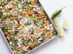 Pumpkin sheet pan nachos easy fall appetizer