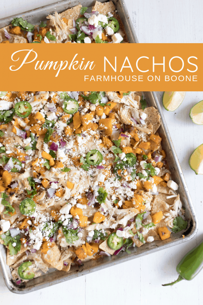 Pumpkin Sheet Pan Nachos Fall Appetizers