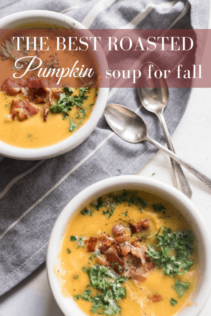 Roasted Pumpkin Soup with Acorn Squash fall soup recipes