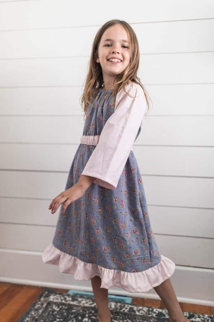 simple sewing tutorial for beginners peasant dress for girls