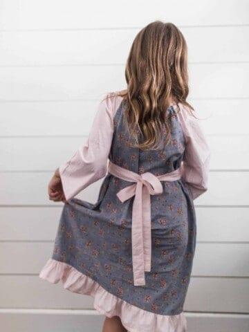 Simple fall peasant dress for girls peasant dress sewing tutorial