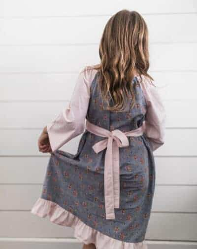 Simple fall peasant dress for girls peasant dress sewing tutorial