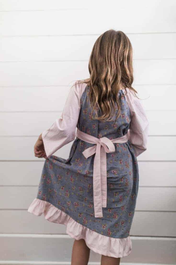 Simple Fall Peasant Dress for Girls