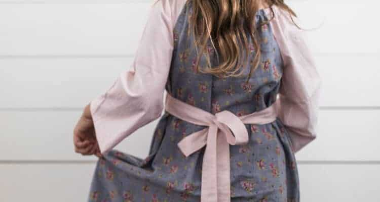 Simple Fall Peasant Dress for Girls