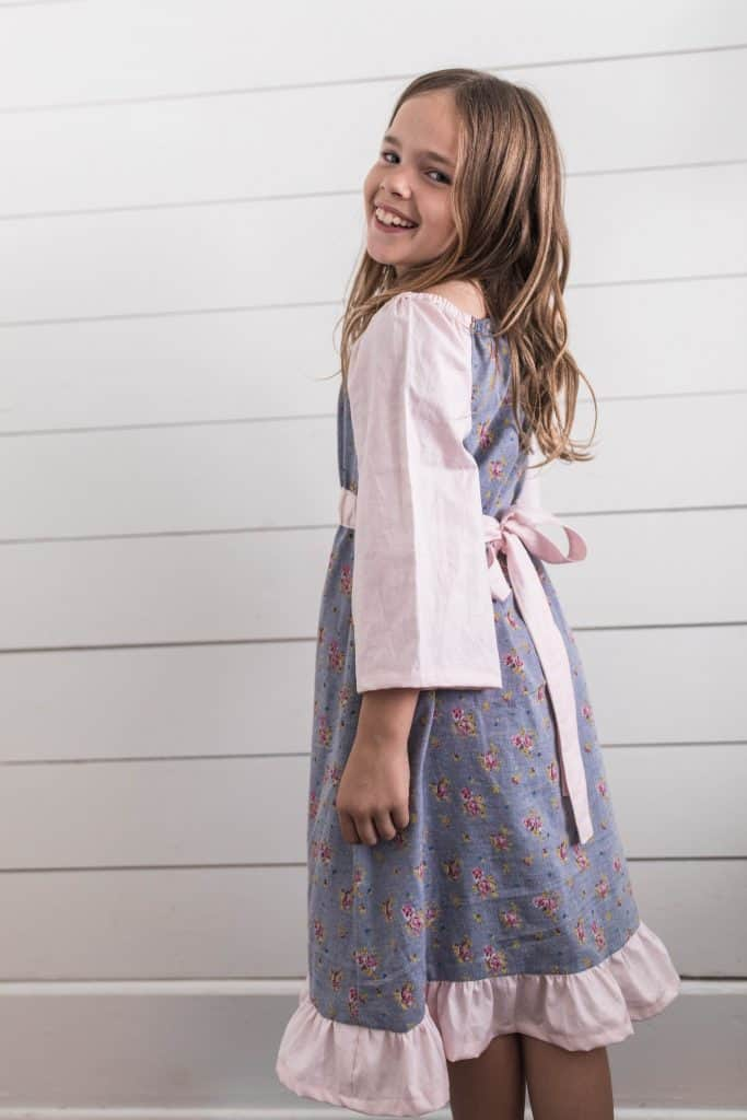 peasant dress pattern simple girls dress sewing tutorial