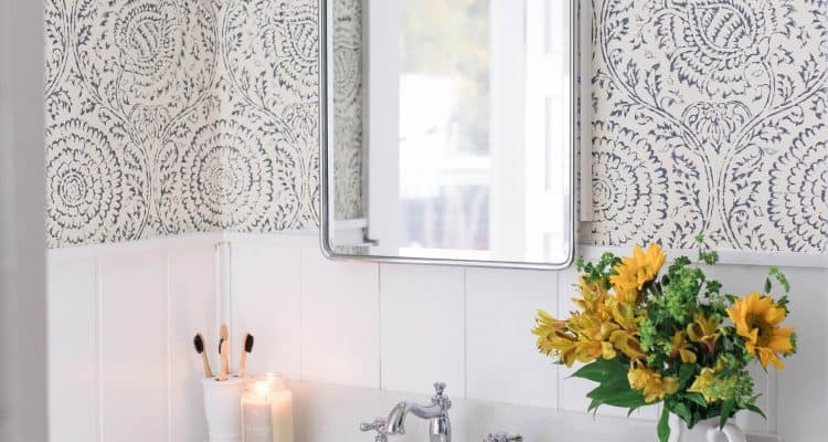 Modern Farmhouse Style Bathroom Makeover Reveal