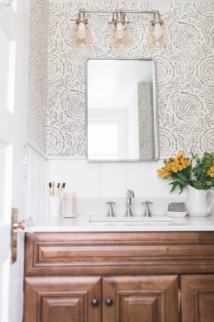Modern Farmhouse Style Bathroom Makeover Reveal Farmhouse On Boone