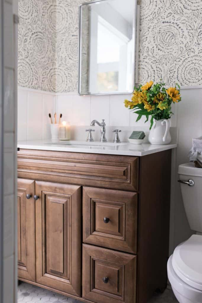 farmhouse style bathroom makeover reveal farmhouse bathroom