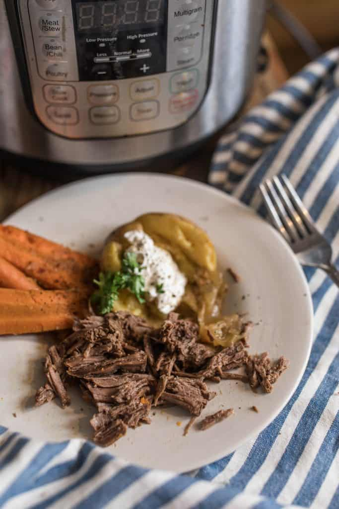 homemade roast in the instant pot how to cook a grass fed beef roast
