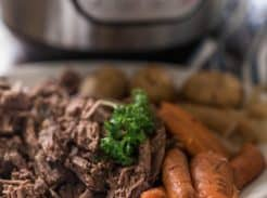 how to cook a roast in the instant pot grass fed chuck roast in a pressure cooker