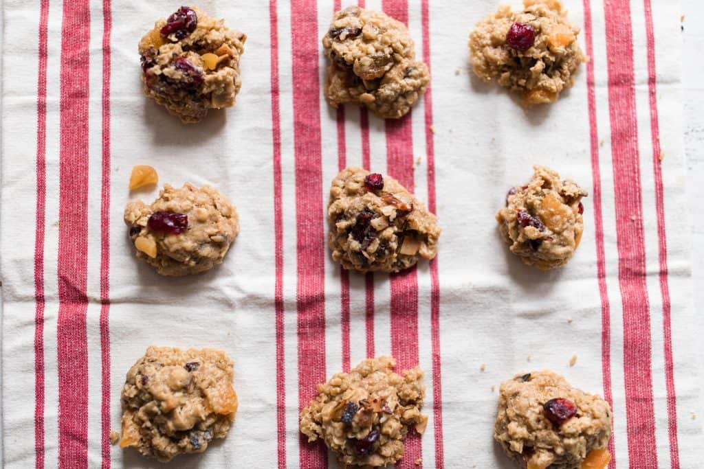 rustic granola cookies oatmeal cookies with cranberries toasted coconut ad apricots