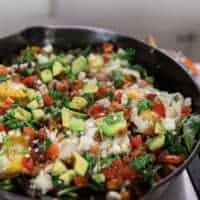 Vegetable Hash Recipe in a Cast Iron Skillet