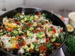 Cast iron skillet recipes vegetable hash perfect for breakfast, lunch and dinner