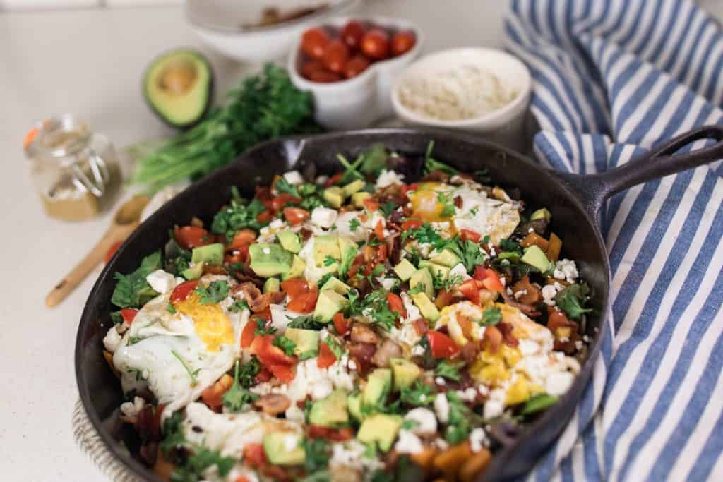 cast iron skillet dinner vegetable hash recipe