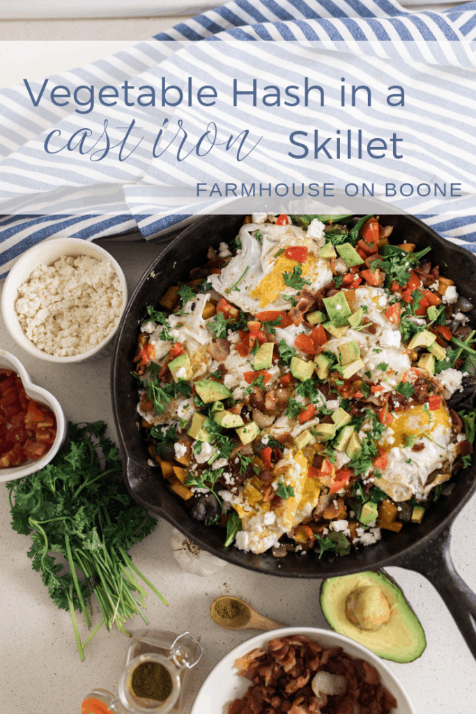 Vegetable Hash recipe cast iron recipes cast iron cooking farmhouse on boone
