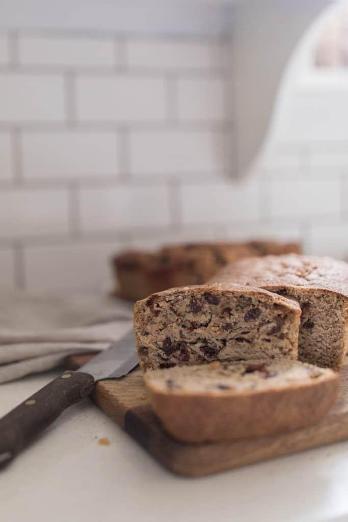 homemade sourdough bread with raisins
