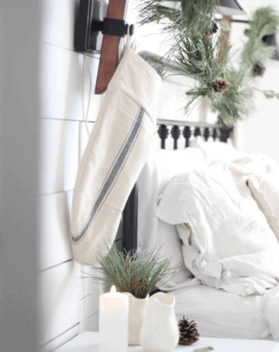 how to sew a simple, grain sack stocking