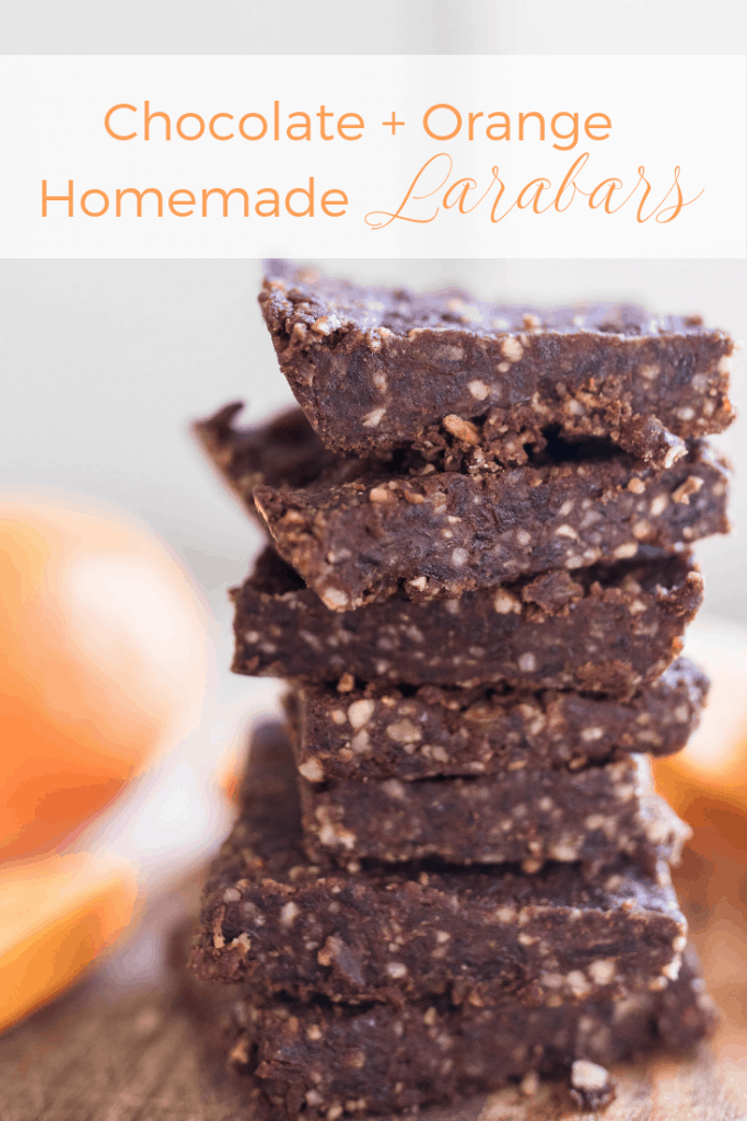Homemade Larabar Recipe | Homemade Orange Chocolate Fruit and Nut Bars